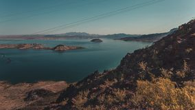 The Lake Mead and its Blue Waters stock images