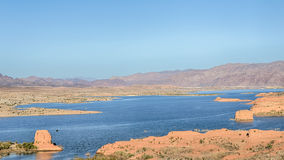 Lake Mead, Las Vegas übersehen, See Mead National Recreation Area, Nanovolt Stockbild