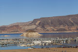Lake Mead Marina in Boulder City, NV on January 30, 2013 Stock Photography