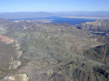Lake Mead and mountains Royalty Free Stock Photography
