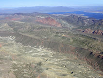 Lake Mead and mountains Stock Image