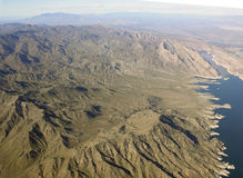 Lake Mead and mountains Stock Photos