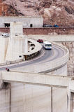 Lake Mead National Recreation Area 4. Tourist traffic crossing the Hoover Dam at the Lake mead national recreation area. On the colorado river between Arizona Stock Images