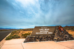 Lake Mead National Recreation Area entrance sign. Overton Nevada Royalty Free Stock Image