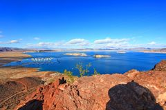 Lake Mead National Recreation Area, Nevada, USA. Lake Mead National Recreation Area near Hoover Dam in Nevada, USA royalty free stock image