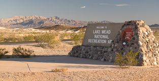 Lake Mead National Recreation Area NPS Monument Entrance Sign Stock Images
