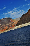 Lake Mead Nevada. Lake Mead and surrounding mountains in nice texture Stock Photography