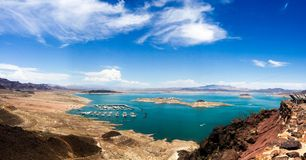 Lake Mead panoramic - Boulder city Royalty Free Stock Photo