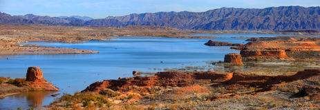Lake Mead recreation area. Road to boat launch area in Lake Mead recreation area Royalty Free Stock Image