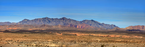 Lake Mead recreation area. Panoramic view of Mountains in Lake Mead recreation area Stock Photo