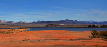 Lake Mead recreation area. Panoramic view of lake Mead recreation area Stock Images