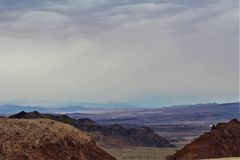 Lake Mead Recreation Area, National Park Services, United States Department of the Interior, Arizona Nevada. Scenic landscape view of Lake Mead Recreation Area stock photography