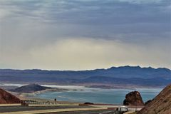 Lake Mead Recreation Area, National Park Services, United States Department of the Interior, Arizona Nevada. Scenic landscape view of Lake Mead Recreation Area stock photo
