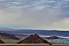 Lake Mead Recreation Area, National Park Services, United States Department of the Interior, Arizona Nevada. Scenic landscape view of Lake Mead Recreation Area stock image