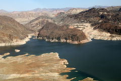 Lake Mead reservoir with drought visible in Nevada and Arizona Royalty Free Stock Photos