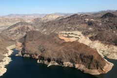 Lake Mead reservoir in the Grand Canyon with drought visible Stock Images