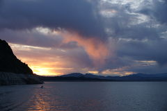 Lake Mead sunset Royalty Free Stock Photo