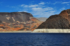 Lake Mead. View on the surrounding desert from Lake Mead Royalty Free Stock Image