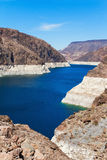 Lake Mead von Hooverdamm, Arizona Stockfotos