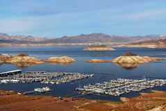 Lake Meade from Nevada near Hoover Dam Stock Image