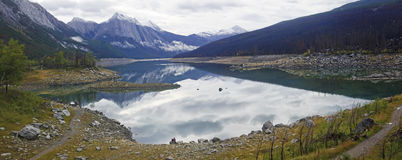 Lake Medicine near Jasper in Canada royalty free stock photography