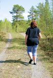Woman walking Royalty Free Stock Photography