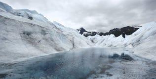 Lake in Mendenhall Glacier, Alaska Royalty Free Stock Photography