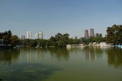 Lake Menor in the mexico city. Royalty Free Stock Image