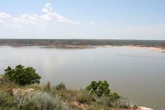 Lake Meredith National Recreation Area. On an August day Stock Photography