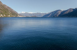 Lake of mezzola royalty free stock photos