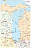 Lake Michigan översikt royaltyfri illustrationer