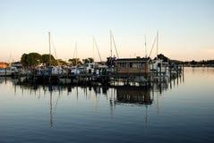 Lake Michigan 2. Boat Docks In Ludington Michigan.  Boat docks on the waters of Lake Michigan Royalty Free Stock Photography