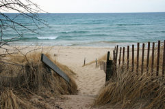 Lake Michigan Beach Royalty Free Stock Photography