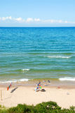 Lake Michigan Beach in the Sum Stock Photography