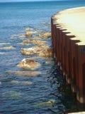 Chicago Beach. Lake of Michigan beach summer time sheering beautiful rocks Royalty Free Stock Images