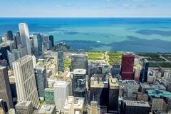 Lake Michigan and the Chicago skyline Royalty Free Stock Images