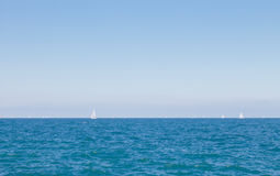 Lake Michigan. In Chicago summer with sailboats in the background Royalty Free Stock Image