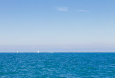 Lake Michigan. In Chicago summer with sailboats in the background Stock Image