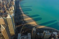 Lake Michigan, clear lake, Chicago Skyscrapers, Illinois, USA Stock Image