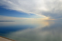 Lake Michigan and Clouds royalty free stock images