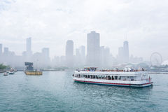 Lake Michigan Cruising Royalty Free Stock Photo