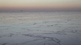 Lake Michigan in December stock footage