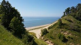 Lake Michigan. Dunes at Lake Michigan Stock Image