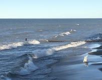 Lake Michigan får ilsket Fotografering för Bildbyråer
