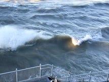 Lake Michigan får ilsket Arkivbild