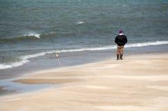 lake michigan fisherman Royalty Free Stock Photo