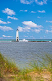 Lake Michigan fyr Royaltyfri Foto