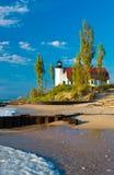 Lake Michigan fyr Royaltyfria Foton
