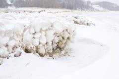 Lake Michigan ice balls Stock Photos