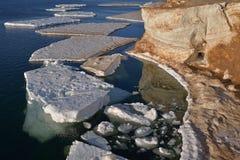Lake Michigan Icebergs Stock Photo